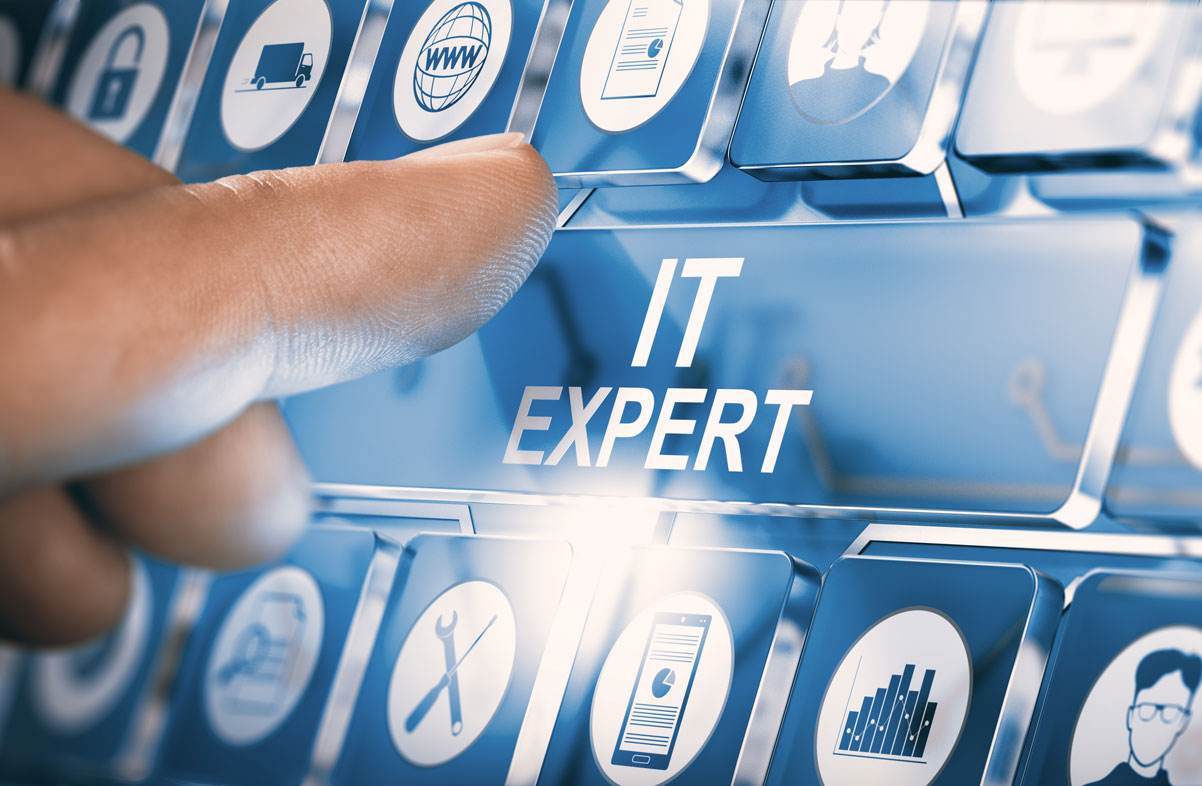 IT expert selection with finger