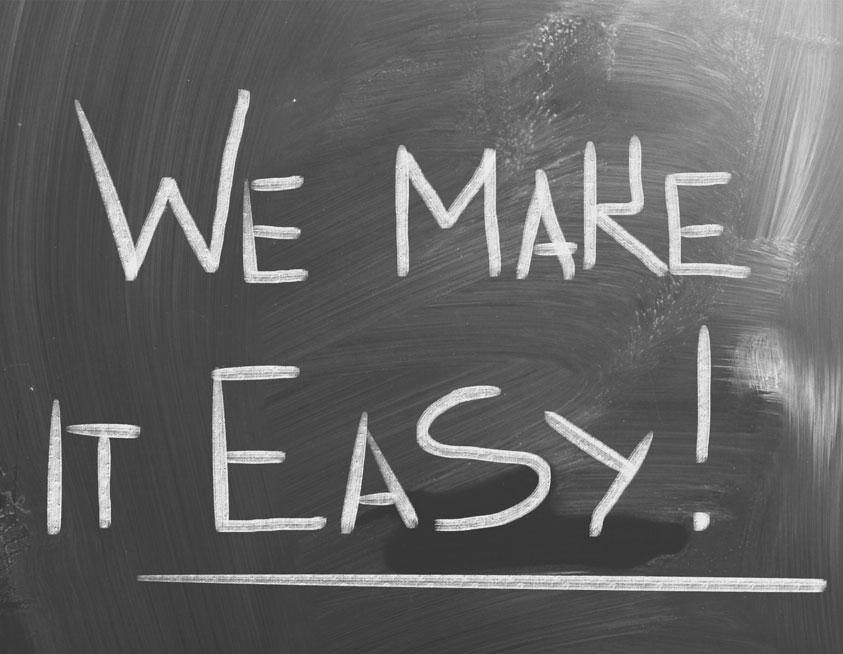 Chalkboard - we make it easy